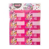 16 Etiquetas Autocolantes Minnie Mouse