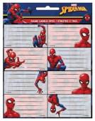 16 Etiquetas Autocolantes Spiderman