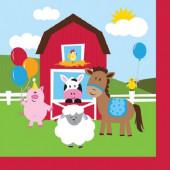 16 Guardanapos Animais da Quinta Farmhouse Fun