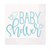 16 Guardanapos Baby Shower Azul