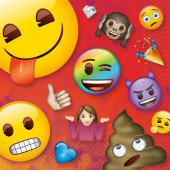 16 Guardanapos Emoji Rainbow Fun