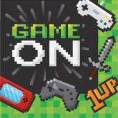 16 Guardanapos Gaming Party