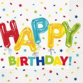 16 Guardanapos Happy Balloon Birthday