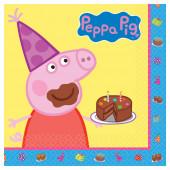 16 Guardanapos Porquinha Peppa Party