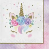 16 Guardanapos Unicorn Baby
