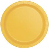 16 Pratos Amarelos redondos 22cm