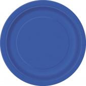 16 Pratos Azul Royal redondos 22cm