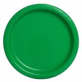 16 Pratos Verdes 22cm