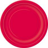 16 Pratos Vermelhos redondos 22cm