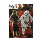 2 Figuras Cartão Disney Star Wars - Disney