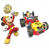 2 Figuras Cartão  Mickey and the Roadster Racers  30cm