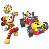 2 Figuras Cartão Mickey Super Pilotos