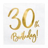 20 Guardanapos 30th Birthday