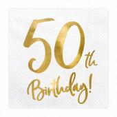 20 Guardanapos 50th Birthday