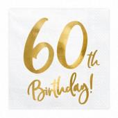 20 Guardanapos 60th Birthday
