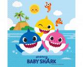 20 Guardanapos Baby Shark Fun in the Sun