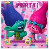 20 guardanapos festa Trolls
