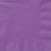 20 Guardanapos lilás 25 cm