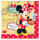 20 Guardanapos Minnie Disney Cafe