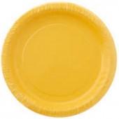 20 Pratos Amarelo 17cm