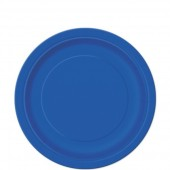 20 Pratos Azul Royal redondos 17cm