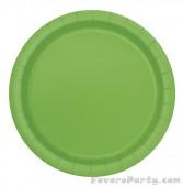 20 Pratos Verde Lima Redondos 17cm