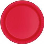20 Pratos Vermelhos Redondos 17cm