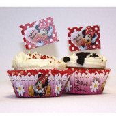 24 Formas Cupcake + 24 Toppers Minnie