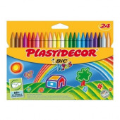 24 Lápis Cera BIC Kids Plastidecor