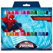 24 lápis cera Marvel Spiderman
