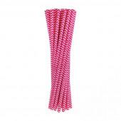 24 Palhinhas rosa fuchia Ziguezague