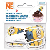 24 Toppers Cupcakes Minions
