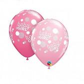 25 Balões Latex Baby Shower Baby Girl 11