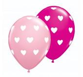 25 Balões Látex Corações Sortido 11