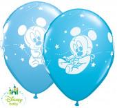 25 Balões Mickey Bebé Azul Sortidos 11