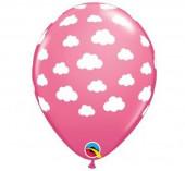 25 Balões Nuvens Rosa 11