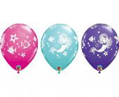 25 Balões Sereia Sortidos 11