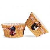 25 Formas Papel Cupcake Ladybug