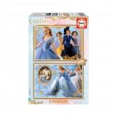 2x Puzzle 100 Cinderella