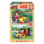 2x Super Puzzle 25 Madeira Mickey