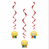 3 Espirais Decorativas Emoji Rainbow
