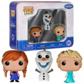 3 figuras Frozen POP Vinil c/ cx metal