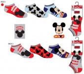 3 Meias Soquetes Mickey Disney Sortido