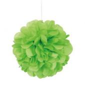 3 Mini Bolas Pom Pom Decorativas Verde Lima