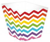 36 Mini Copos Papel Rainbow