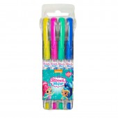 4 canetas cor gel purpurina Shimmer y Shine
