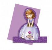 4 Convites Decorativos Princesa Sofia