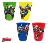 4 copos plástico Marvel Avengers