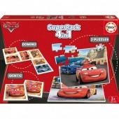 4 em 1 - Jogo do Dominó, 2 Puzzles e Memória do Cars