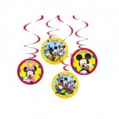4 Espirais Decorativas Mickey Clubhouse